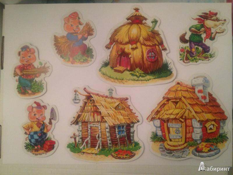 Иллюстрация 1 из 3 для Три поросенка. Карточки на магнитах   Лабиринт - книги. Источник: KristiFalko