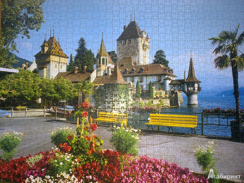 Иллюстрация 1 из 3 для Step Puzzle-1000 Швейцария. Оберхофен (79080)   Лабиринт - игрушки. Источник: Mousse