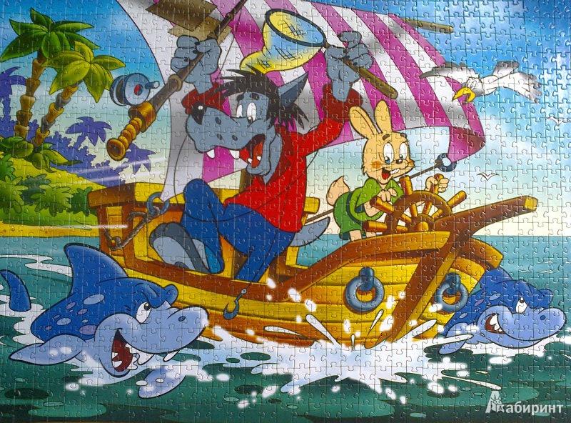 Иллюстрация 1 из 9 для Step Puzzle-1000 79009 Ну, погоди! | Лабиринт - игрушки. Источник: Mousse