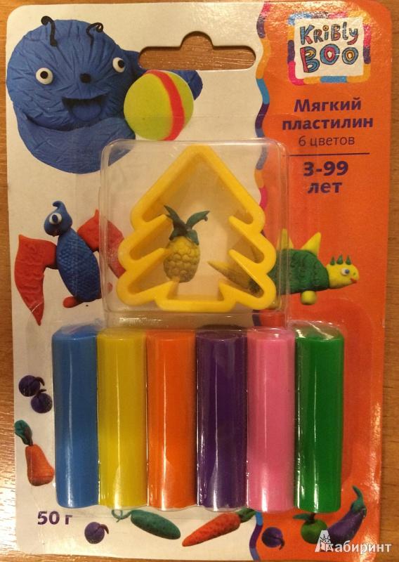 Иллюстрация 1 из 4 для Мягкий пластилин с формочкой, 6 цветов, 50 гр. (46642) | Лабиринт - игрушки. Источник: mamavora