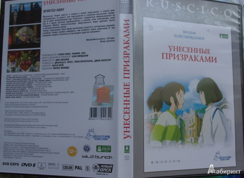 Иллюстрация 1 из 10 для Унесенные призраками. Региональная версия (DVD) - Хаяо Миядзаки | Лабиринт - видео. Источник: Алонсо Кихано
