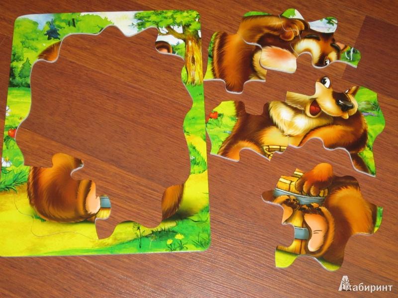 Иллюстрация 1 из 8 для Книжка-пазл. Мишка косолапый | Лабиринт - книги. Источник: Ковалева  Елена Алексеевна