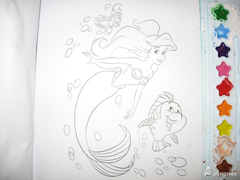 Иллюстрация 1 из 8 для Русалочка. Морская история. Раскраски и краски | Лабиринт - книги. Источник: B Y