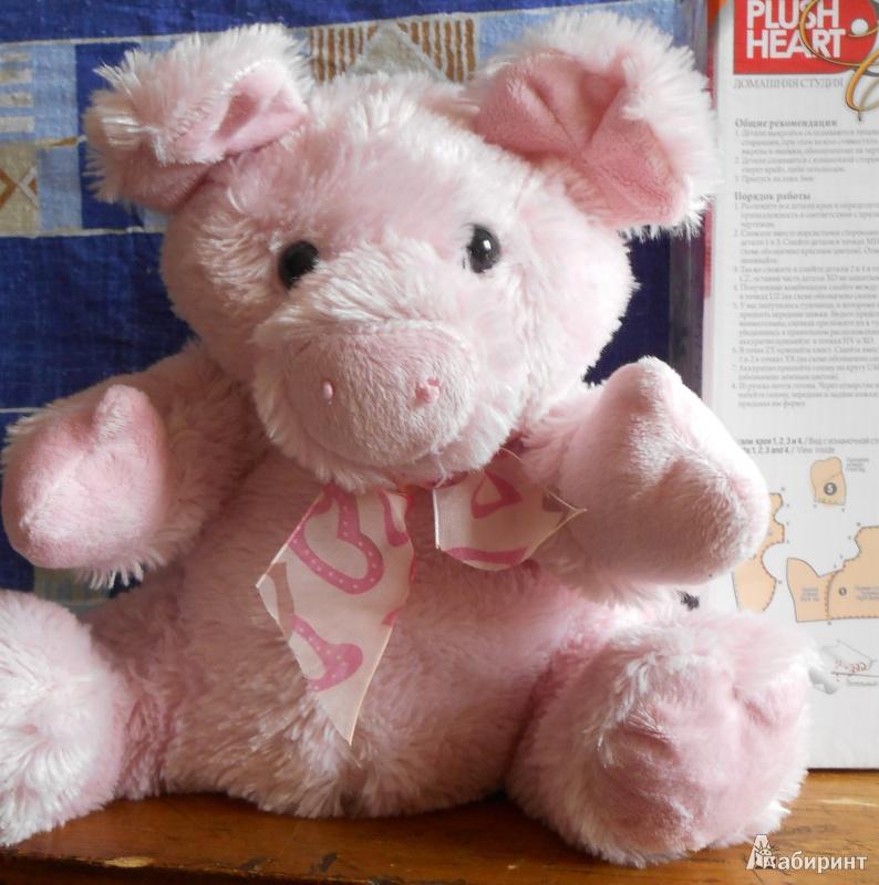 Иллюстрация 1 из 2 для Мягкая игрушка: Свинка розовая   Лабиринт - игрушки. Источник: Чунга-чанга