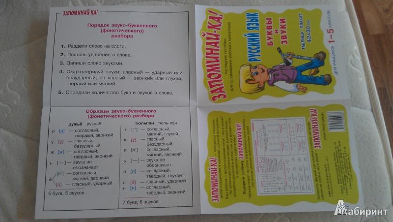Иллюстрация 1 из 6 для Русский язык. Буквы и звуки. Таблица-плакат. Для учащихся 1-5 классов | Лабиринт - книги. Источник: Макеева  Татьяна