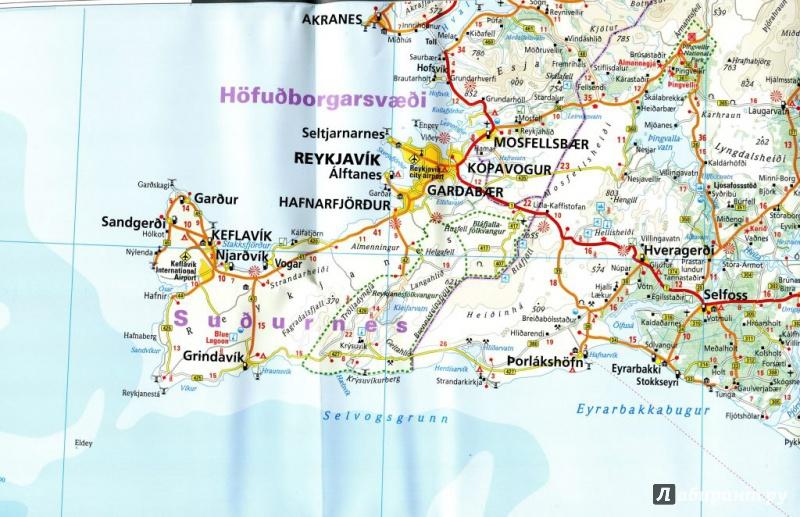 Иллюстрация 1 из 2 для Исландия. Карта. Island 1:425 000 | Лабиринт - книги. Источник: Саляева Ирина