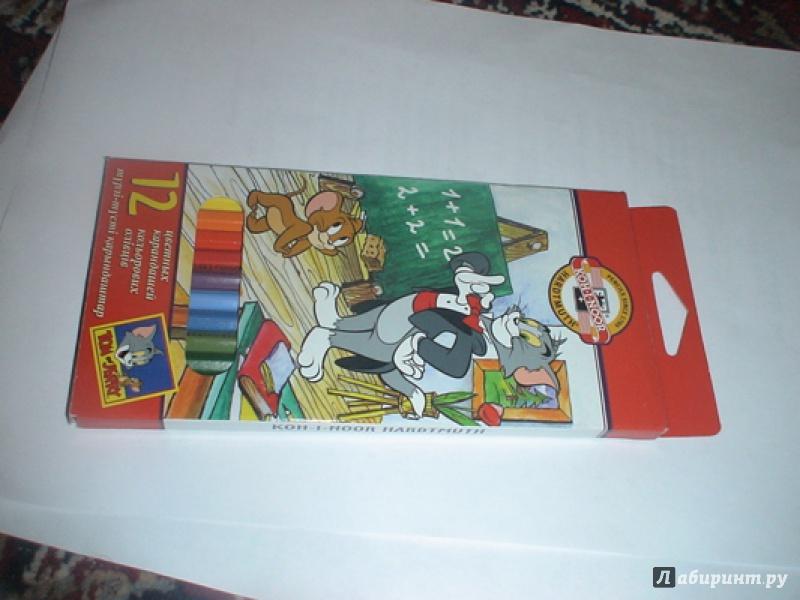"""Иллюстрация 1 из 14 для Карандаши 12 цветов """"Том и Джерри"""" (3652)   Лабиринт - канцтовы. Источник: prema81"""