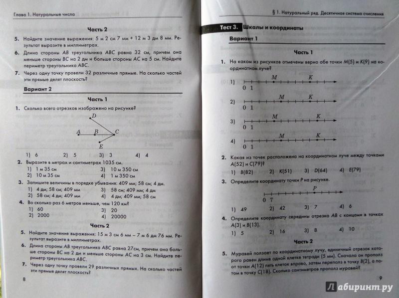 Математика класс Контрольные измерительные материалы ФГОС  все