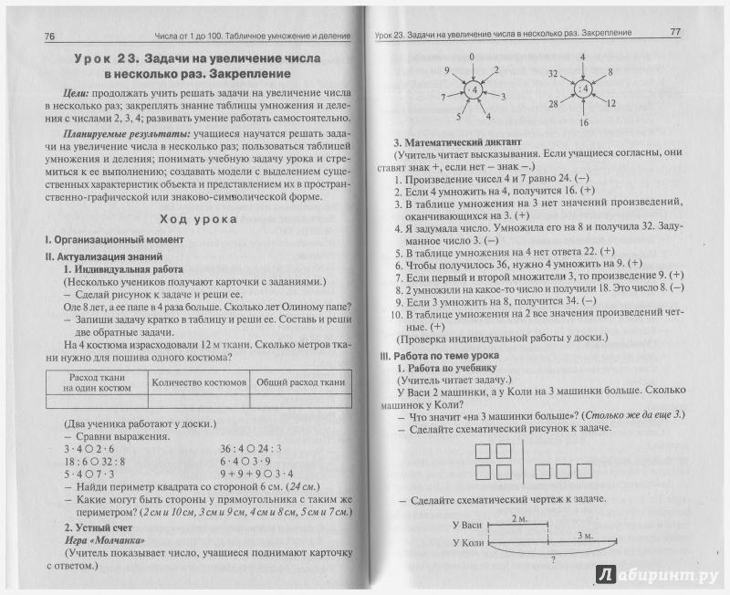 Поурочные планы по математике 3 класс моро