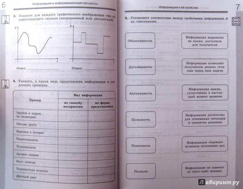 Информатика 7 класс босова рабочая тетрадь