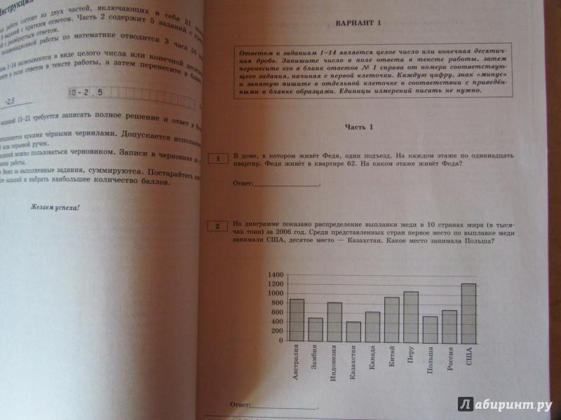 Математике гдз по для 2019 36 огэ вариантов ященко