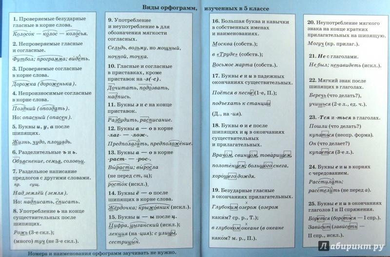 Класс с по русскому орфограммами гдз 7