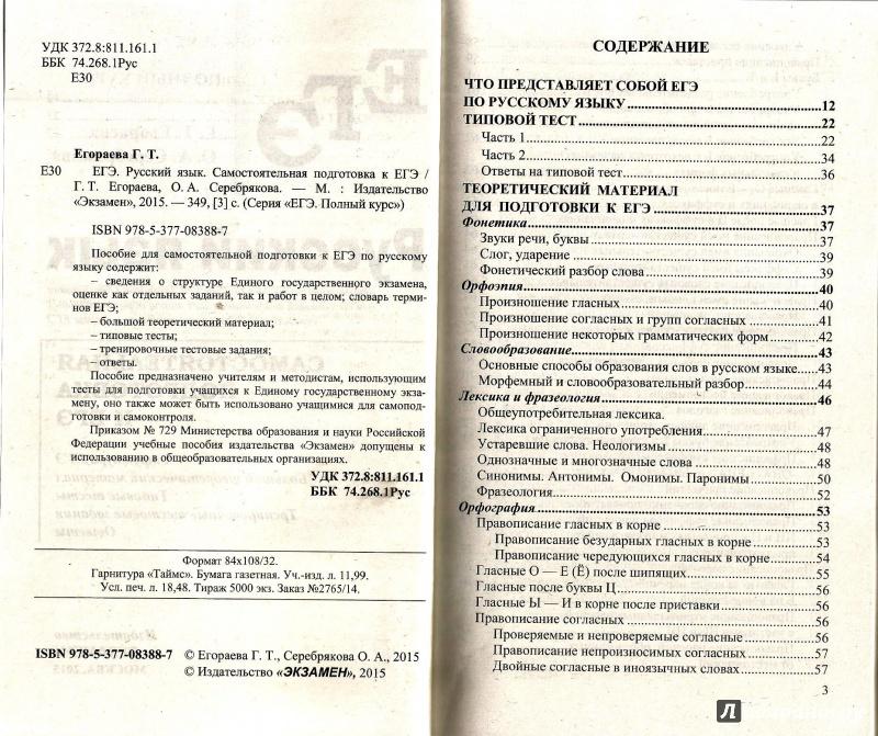 Иллюстрация 1 из 11 для ЕГЭ. Русский язык. Самостоятельная подготовка. Полный курс - Егораева, Серебрякова | Лабиринт - книги. Источник: Юльна