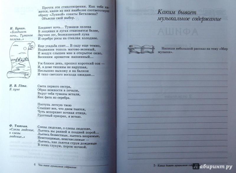 Дневник музыкальных наблюдений 7 класс