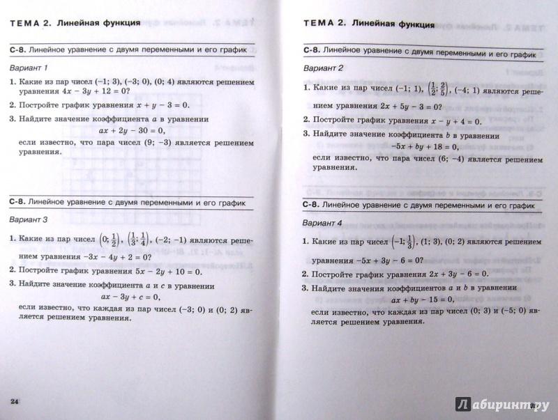 Скачать самостоятельные работы алгебра 9 класс макарычев