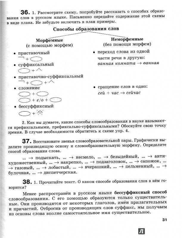 класс решебник секреты словообразования русского 8
