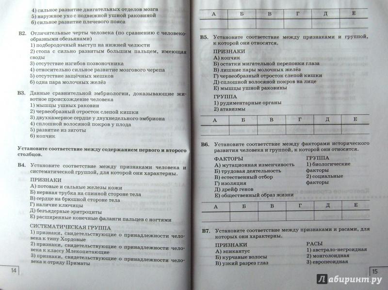 Тетрадь по биологии 8 класс сонин сапин
