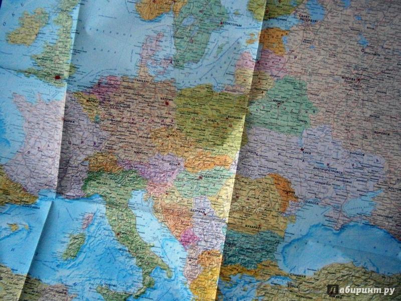 Иллюстрация 1 из 7 для Карта складная: Мир и Европа | Лабиринт - книги. Источник: D8  _