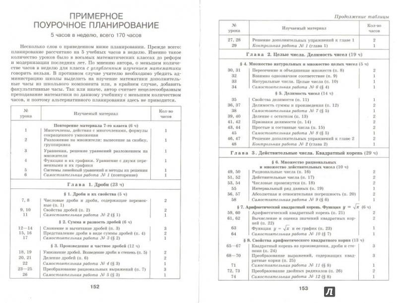 Учебник по алгебре 8 класс макарычев с углубленным изучением