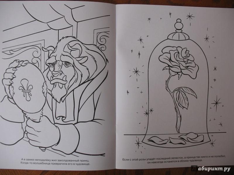 Иллюстрация 1 из 3 для Волшебная раскраска. Красавица и Чудовище (№14151)   Лабиринт - книги. Источник: ЕленкаС