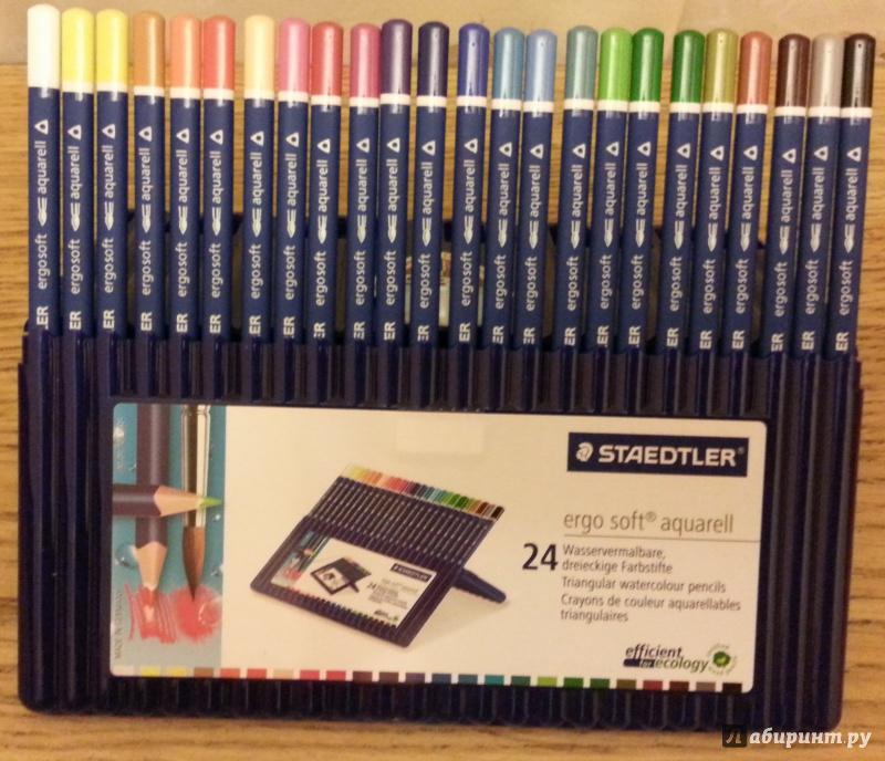 Иллюстрация 1 из 5 для Карандаши акварельные трехгранные Ergosoft, 24 цвета (156SB24) | Лабиринт - канцтовы. Источник: Жуковская  Ирина