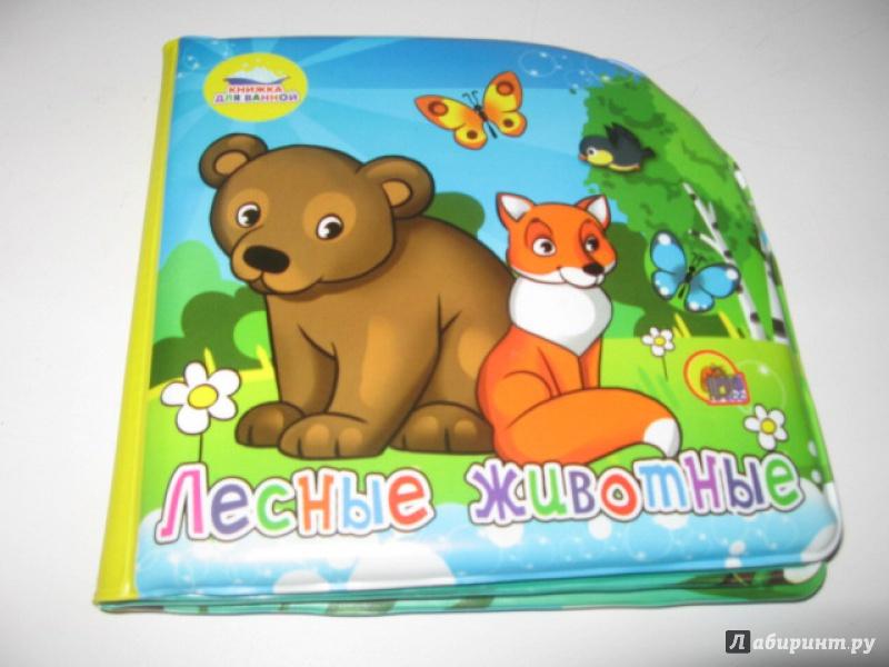 Иллюстрация 1 из 9 для Лесные животные. Книжка для ванной   Лабиринт - книги. Источник: mer_cure