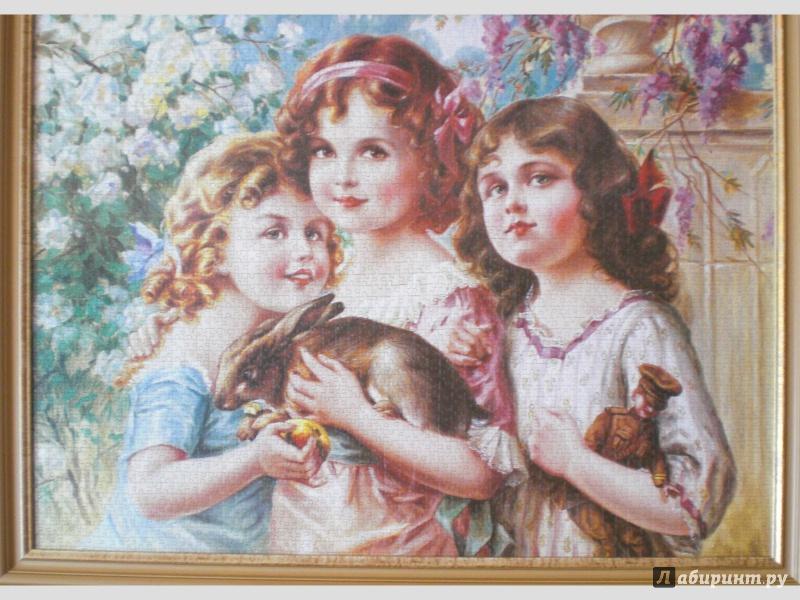 Иллюстрация 1 из 2 для Puzzle-3000.С-300051.Девочки с кроликом | Лабиринт - игрушки. Источник: Бурылина  Надежда