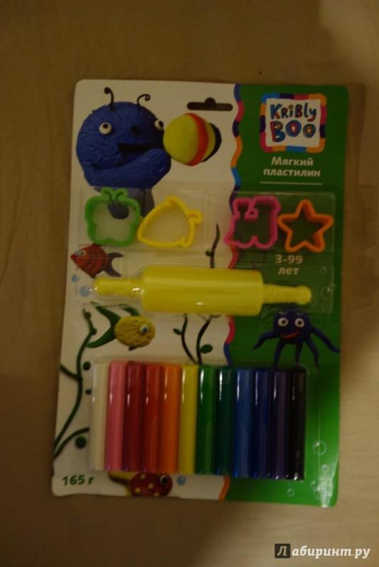 Иллюстрация 1 из 2 для Мягкий пластилин с формочками и роликом, 12 шт. (46644)   Лабиринт - игрушки. Источник: Первушина  Светлана