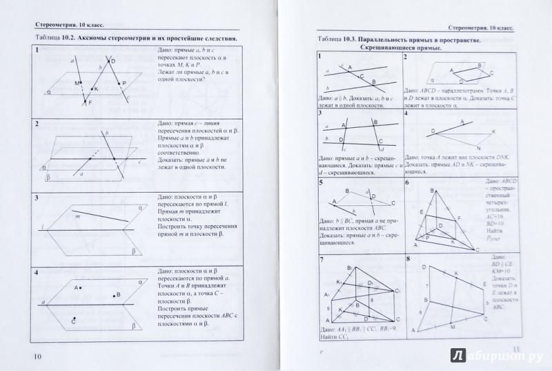 Скачать задачу на готовых чертежах 10 класс рабинович
