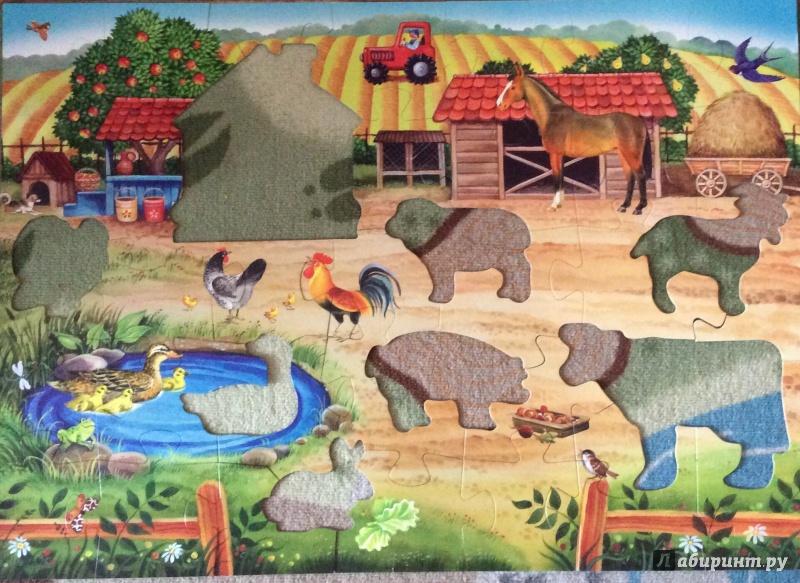 """Иллюстрация 1 из 7 для Напольныйпазл""""Ферма"""" (70103)   Лабиринт - игрушки. Источник: Умная Дуня"""