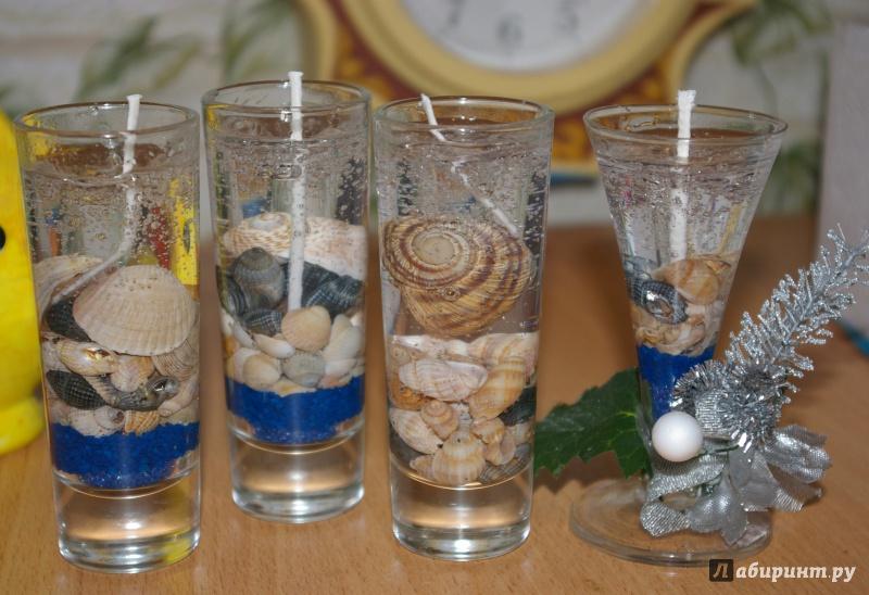 Иллюстрация 1 из 2 для Гелевые свечи с ракушками. Набор №6 (274016) | Лабиринт - игрушки. Источник: Зернова  Елена Сергеевна