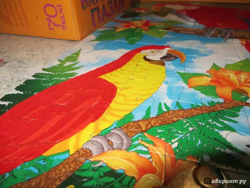 Иллюстрация 1 из 4 для Бархатные пазлы. Попугаи | Лабиринт - игрушки. Источник: Ko-ren