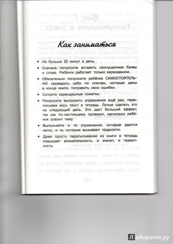 Иллюстрация 1 из 4 для Рабочая тетрадь для тренировки грамотности. 3 класс - Наталия Сычева | Лабиринт - книги. Источник: Ник2015