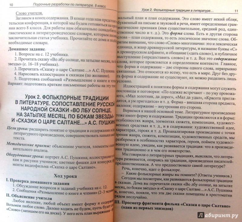Домашняя работа по литературе 8 класса к учебнику а.г.кутузова