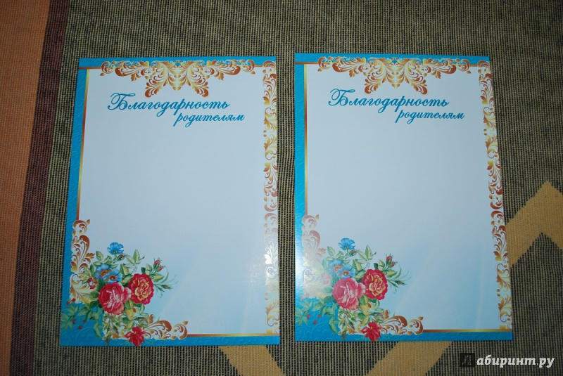 Иллюстрация 1 из 4 для Благодарность родителям (картон) (Ш-5534)   Лабиринт - сувениры. Источник: Журавлёва  Анна