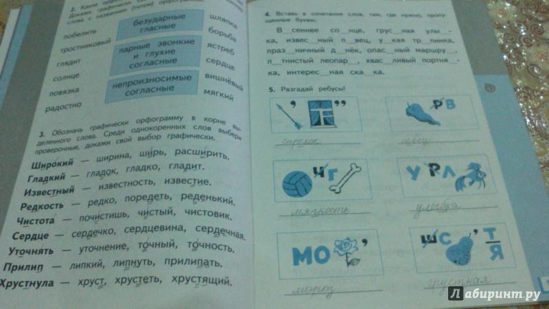 по языку тетрадь класс калинина решебник русскому рабочая 3