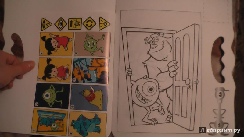 Иллюстрация 1 из 9 для Корпорация монстров. Возьми, наклей и раскрась (№1410) | Лабиринт - книги. Источник: Лабиринт