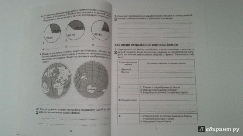 Класс тетрадь гдз география фгос душина путина рабочая от 7