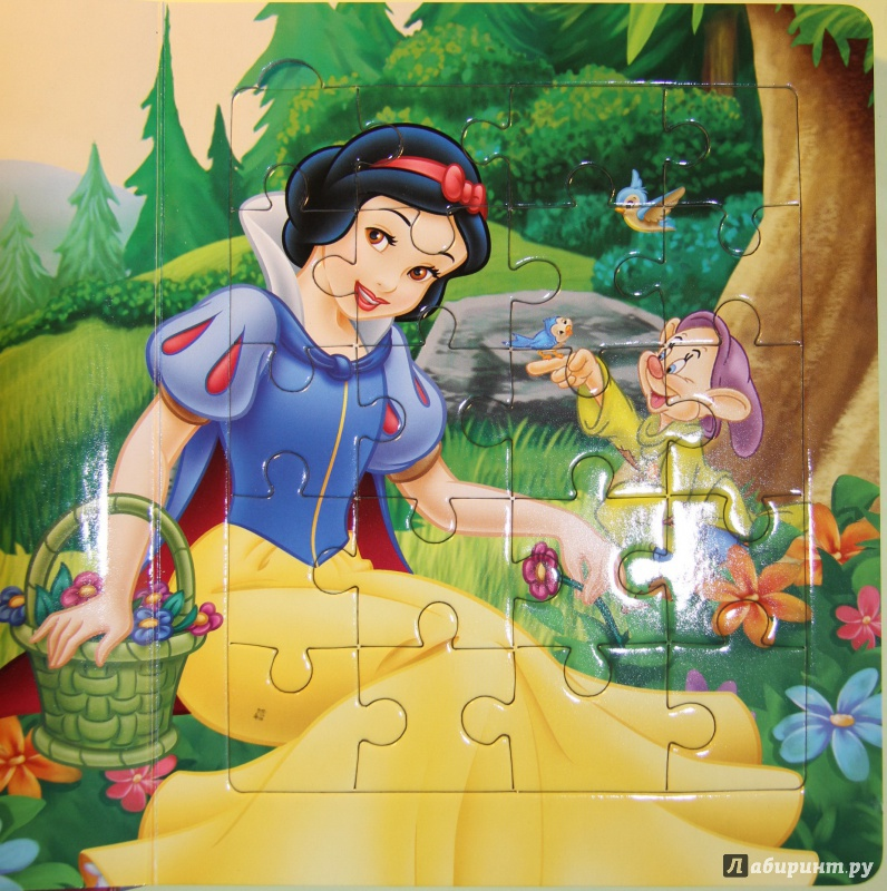 Иллюстрация 1 из 11 для Белоснежка и семь гномов. Мозаика-малышка | Лабиринт - книги. Источник: Тасиа
