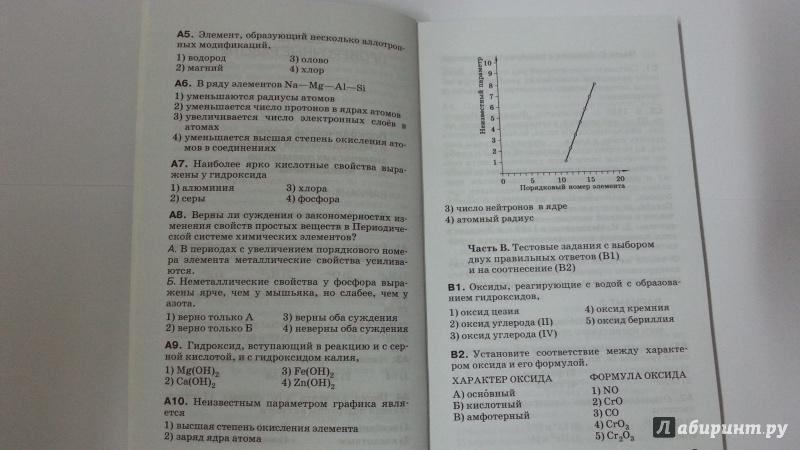Гдз по химии габриелян о.с контрольные и проверочные работы