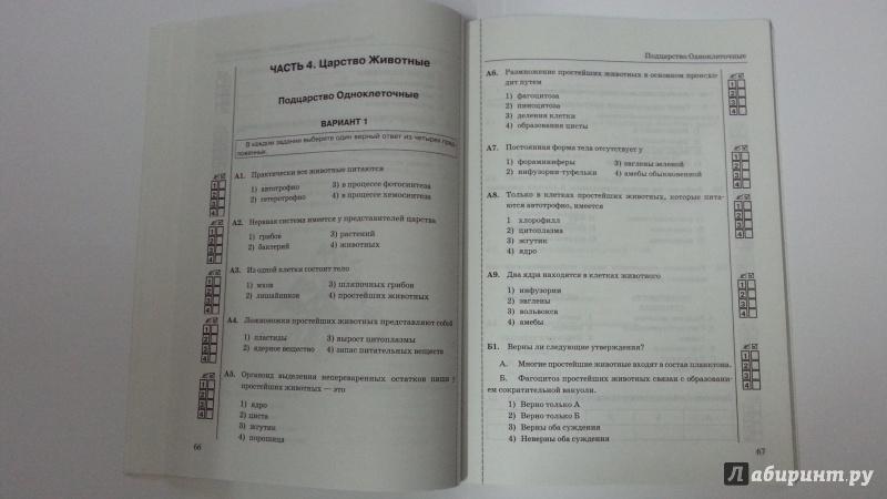 Тест по биологии для 8 класса нервная система умк н.и.сонин ответы