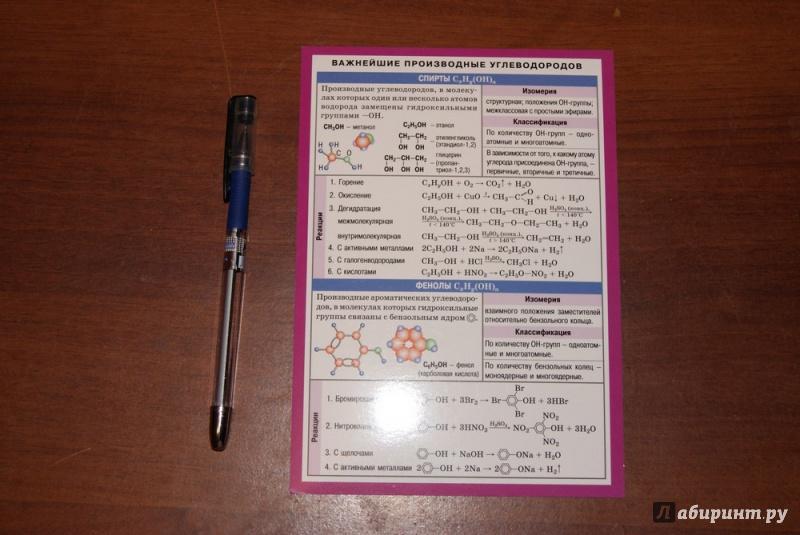 Иллюстрация 1 из 5 для Химия. Важнейшие производные углеводородов | Лабиринт - книги. Источник: М.Т.В.