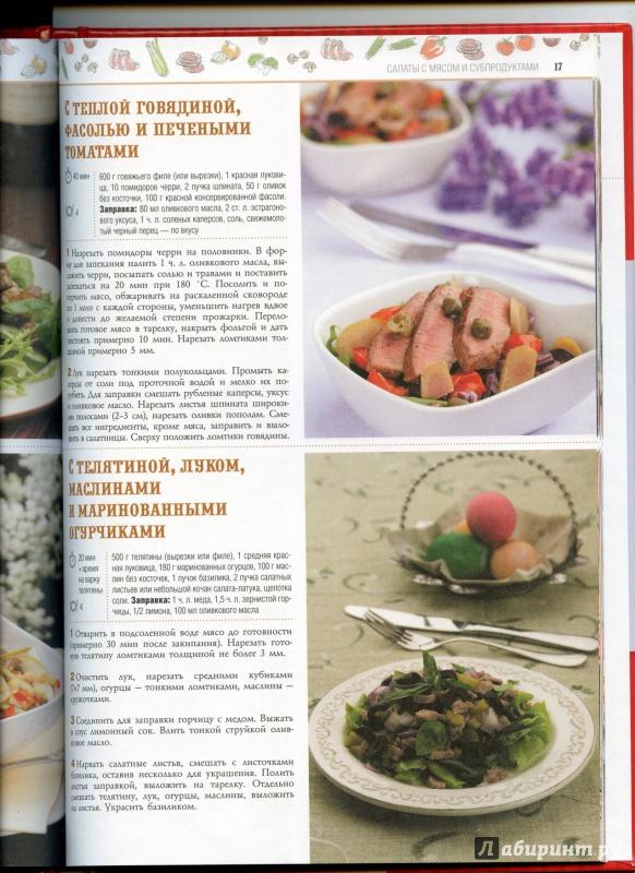 Иллюстрация 9 из 11 для 100 лучших рецептов праздничных салатов | Лабиринт - книги. Источник: boalinfo