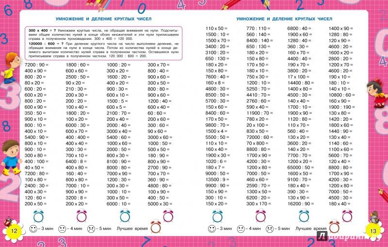 Иллюстрация 1 из 3 для Математика. 3-4 классы. Внетабличное умножение и деление - Нефедова, Узорова   Лабиринт - книги. Источник: Костина  Юлия