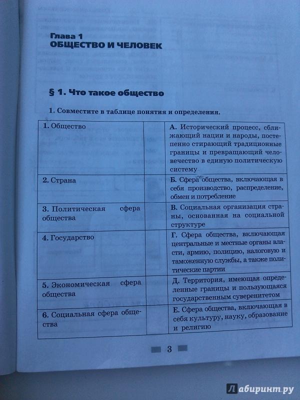 Обществознание кравченко 8 класс рабочая тетрадка