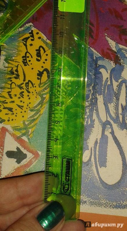 Иллюстрация 1 из 4 для Линейка 16 см NEON Cristal, 4 цвета (ЛН02) | Лабиринт - канцтовы. Источник: Написатель