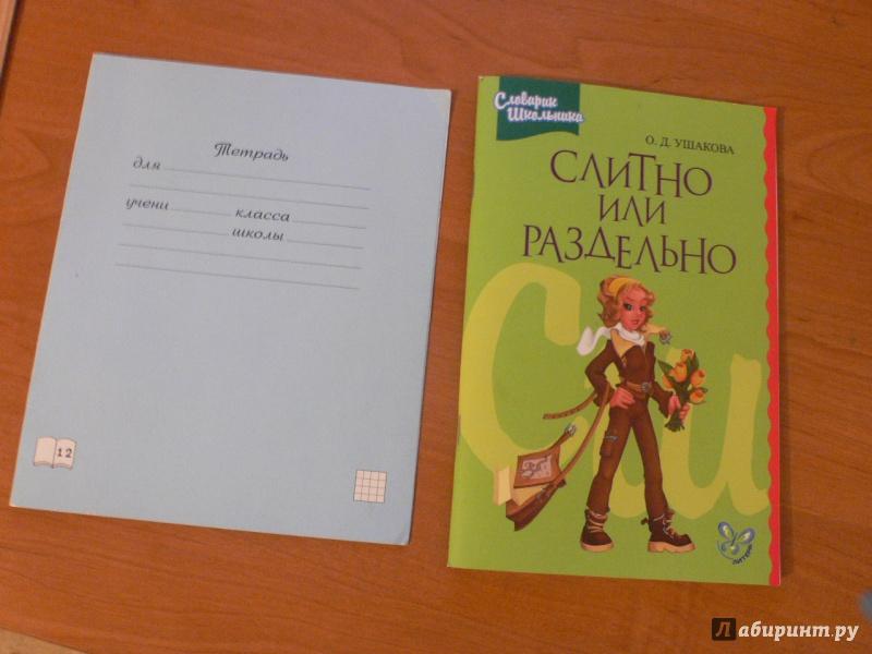 Иллюстрация 1 из 18 для Слитно или раздельно - Ольга Ушакова | Лабиринт - книги. Источник: Сельц  Юлия Сергеевна