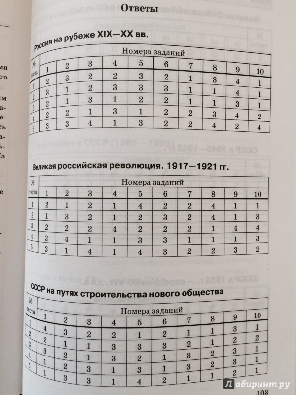 По учебник тестовые задания гдз данилов истории