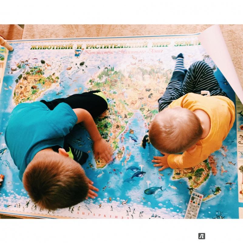 Иллюстрация 9 из 24 для Животный и растительный мир Земли. Детская карта | Лабиринт - книги. Источник: Виктория Гришкевич