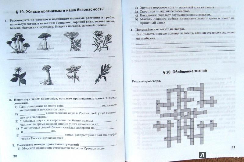 Решебник по биологии 5 класс рабочая тетрадь новикова романова ответы